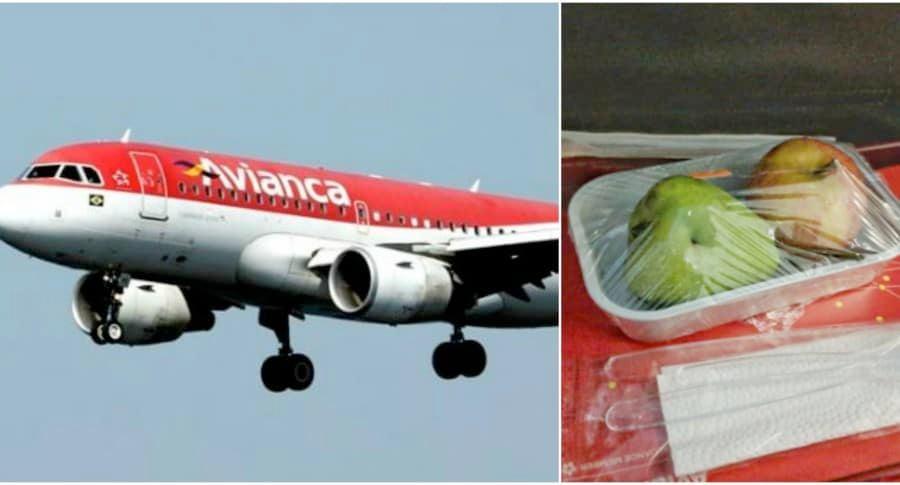 """Avianca investigará por qué le sirvieron """"pobre"""" menú vegetariano a pasajero"""