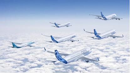 Cerca de 650 aviones de Airbus operan actualmente en Latinoamerica y Caribe