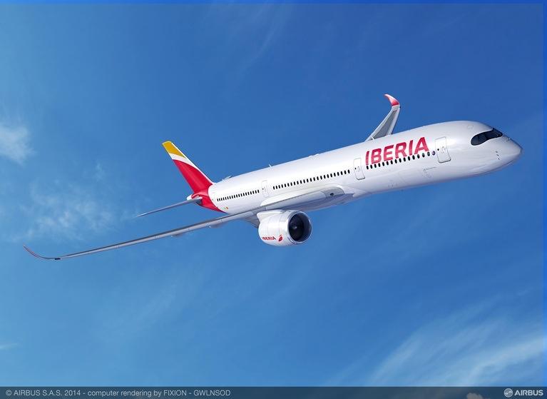 El Airbus A350 de Iberia se sumará al A320neo en 2018