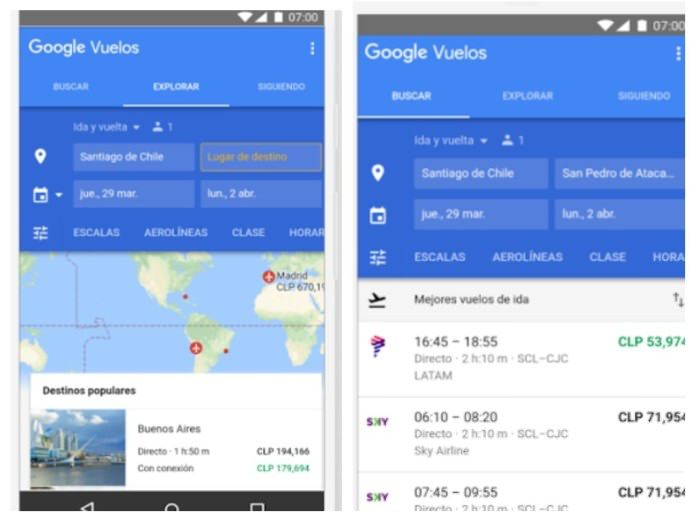 Google Flights está disponible ya en Argentina