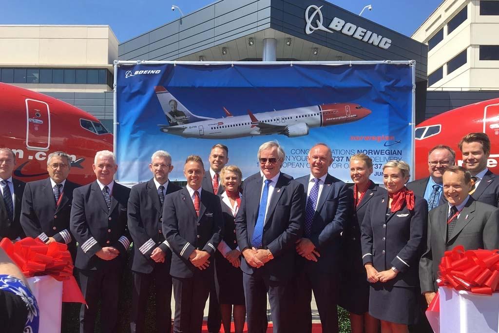 Norwegian recibe sus primeros Boeing 737 MAX 8