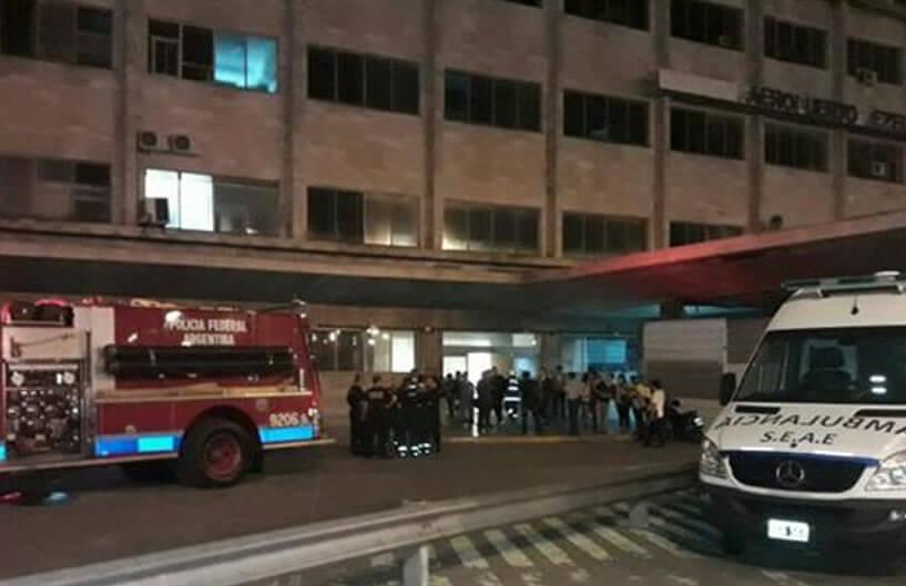 Un principio de incendio afectó esta noche al Aeropuerto de Ezeiza